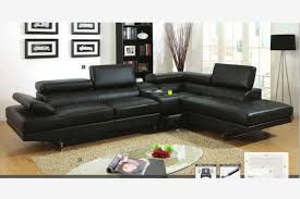 black leather couch. Fabulous Contemporary Black Leather Sofa Modern Sectional Couch Console Bluetooth Speaker L