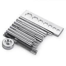 details about 11pcs eyelet punch snap rivet on setter base kit diy leather craft tool