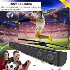 LP-09 40W bluetooth Echo Soundbar 3D HiFi Stereo Bass Speaker TF Card Aux  Home Wall Soundbar