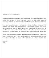 Letter Of Immigration Recommendation Letter For Immigration Marriage