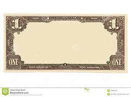 Money Bill Template Blank Dollar Bill Image Group 83
