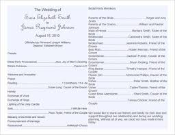 wedding reception program templates free download wedding program template 64 free word pdf psd documents