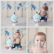 Cake Smash Double Banners Photography 1st Birthday Cake Smash