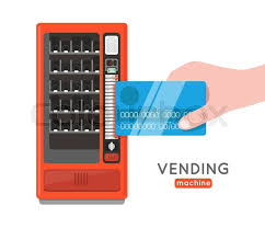 Credit Card Vending Machine Classy Vending Machine Vector Set Sell Snacks And Soda Drinks Vending