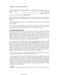 Employee Non Compete Agreement Pdf Format E Database Org
