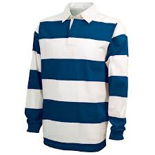 charles river classic rugby shirt royal white 9278 zoom