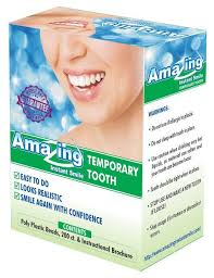 amazing temporary tooth kit diy do it yourself