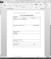 Template Audit Report Project Management Experience Audit Report Form Fsms Nonconformity