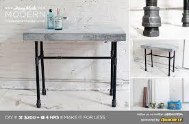homemade modern diy ep40 concrete iron bar table postcard
