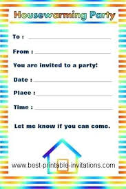 Sample Party Invite Printable House Warming Invitations Housewarming Party Invitation