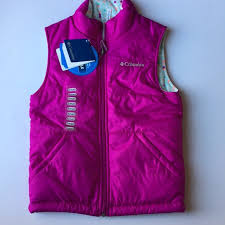 Columbia Youth Small Size Chart Nwt Girls Reversible Youth Small 7 8 Winter Vest