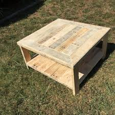 We just want a really rustic look of our pallet coffee table so it still carries the nail holes, rustic wooden knots and weathered appearance. Wood Pallet Square Coffee Table Pallet Furniture Plans