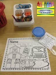 Small Picture Crayons Cuties In Kindergarten First Day of School Coloring Page
