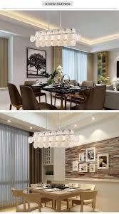 Großhandel Luxus Moderne Glas Kronleuchter Beleuchtung Für Esszimmer Rechteck Hängende Leuchte Kücheninsel Weiße Led Glanz Von Yogurt 34766 Auf