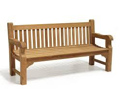 balm 6ft traditional chunky garden bench teak park bench 1 8m