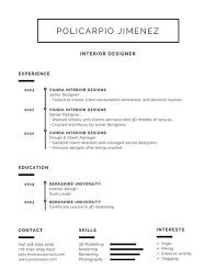 Black and White Minimalist Resume