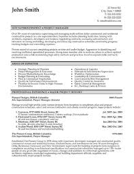 construction superintendent resume