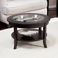 genoa round coffee table with glass top dark espresso set wood new and for size 1