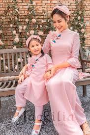 Áo dài cách tân, áo dài Tết - Đồ đôi mẹ và bé Jackilia - Jackilia