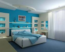 Modern House Bedroom Blue Bedroom Idea With Comfortable Space Design Amaza Design