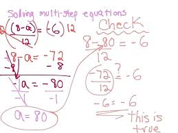 multiple step equations integers worksheet answer key solving multi answers