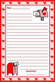Valentines Day Letter Template 96 Best Valentines Stationery Images Printable Valentine Writing