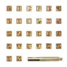 26pcs steel printing punch alphabet letter stamp set metal leather tools
