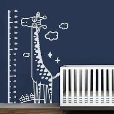 Giraffe Growth Chart Wall Decal Removable Inspired Vinyl Baby Kid Room Art Decor Ebay
