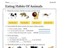 In this story jamal tries to help his friend aliyah make healthier food choices. Eating Habits Of Animals Class 3 Worksheet