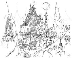 Houses To Color And Print For Adults Coloring Page Skeletons Free Coloring Pages Print City Scene Coloring Page L