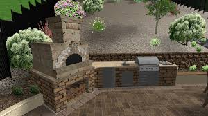 Outdoor Barbeque Designs Brick Stone Patio Backyard Build In Grill Baby Nursery Fascinating