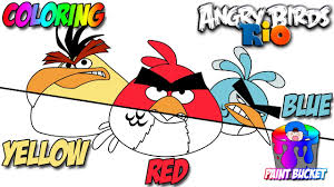 Small Picture How to Color Angry Birds Rio Red Yellow and Blue Angry Birds