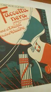 FACCETTA NERA LA CANZONE DEI LEGIONARI - EDIZIONI BIXIO S.A.M. 1935.