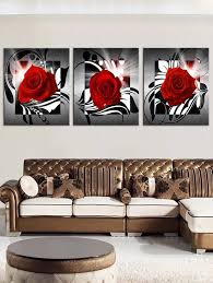 romantic rose printed wall decor canvas paintings