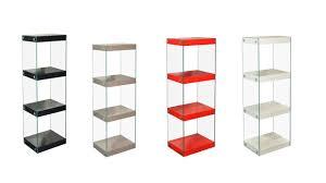 medium glass shelving unit black white red grey gloss shelves with chrome