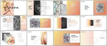 Presentation Design Templates Minimal Presentations Design Portfolio Vector Templates With
