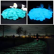 100pcs bag luminous toys ornaments baby toy gravel for garden yard glow in the dark pebbles stones for walkway wedding party