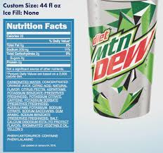 mounn dew nutrition label addicted to t mt