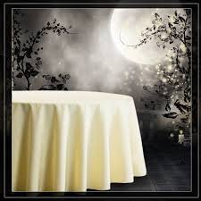 120 inch round tablecloths ivory
