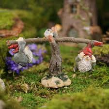 image is loading miniature dollhouse fairy garden garden gnomes playing on