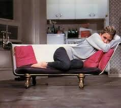 Clawfoot tub couch from breakfast at Tiffanys.