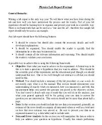 Science Report Format Science Experiment Report Template Formal Lab Example Sample