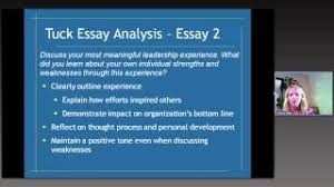 tuck school of business dartmouth college mba essay analysis com tuck mba essay analysis 2012 2013 season write like an expert 2012
