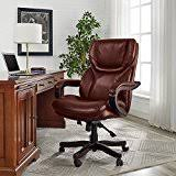 office chairs brown leather. Serta Bonded Leather Big \u0026 Tall Executive Chair, Brown Office Chairs