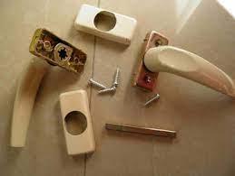 replacing a broken door handle