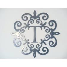Metal Initials Wall Hanging Inspiration Hanging Letter Wall Decor Monogram  Letter T Wall Hanging Monogram .