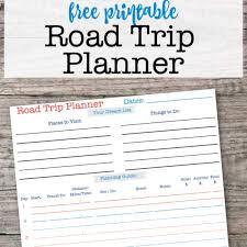 Travel Trip Planner Printable Road Trip Planner Momof6