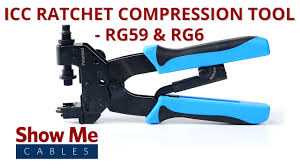 ICC Ratchet <b>Compression</b> Tool for <b>RG59</b> & <b>RG6</b> - F Type, BNC ...