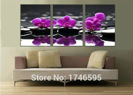 big modern home decor wall art picture living room bedroom wall decor purple orchid flower printed on purple orchid wall art with big modern home decor wall art picture living room bedroom wall