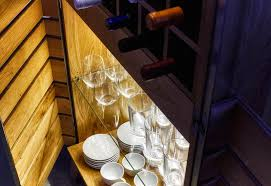 Contemporary Bar Cabinet Wooden Baroso Sixay Furniture